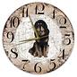 Creatief Art Houten Klok - 30cm - Hond - Tibetaanse Mastiff