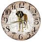 Creatief Art Houten Klok - 30cm - Hond - Sint Bernard (langhaar)