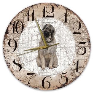 Creatief Art Houten Klok - 30cm - Hond - Sarplaniac (Joegoslavische herder)