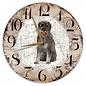 Creatief Art Houten Klok - 30cm - Hond - Riesenschnauzer