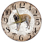 Creatief Art Houten Klok - 30cm - Hond - Spaanse Mastiff