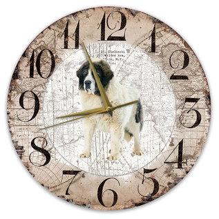 Creatief Art Houten Klok - 30cm - Hond - Mastin De los Pirineo (Pyrenese Mastiff)