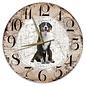 Creatief Art Houten Klok - 30cm - Hond - Grote Zwitserse Sennerhond