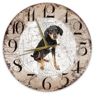 Creatief Art Houten Klok - 30cm - Hond - Appenzeller Sennerhond