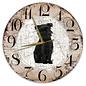 Creatief Art Houten Klok - 30cm - Hond - Affenpinscher
