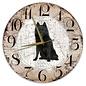 Creatief Art Houten Klok - 30cm - Hond - Schipperke