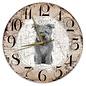 Creatief Art Houten Klok - 30cm - Hond - Pumi
