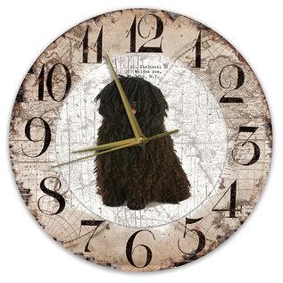 Creatief Art Houten Klok - 30cm - Hond - Puli