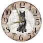 Creatief Art Houten Klok - 30cm - Hond - Mudi