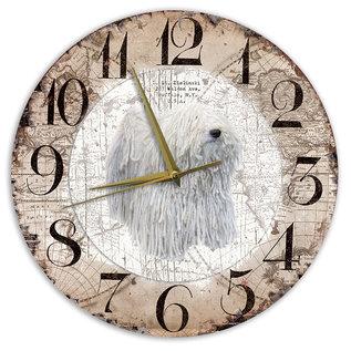 Creatief Art Houten Klok - 30cm - Hond - Comondor
