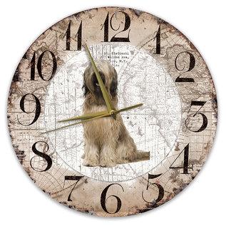 Creatief Art Houten Klok - 30cm - Hond - Briard