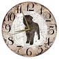 Creatief Art Houten Klok - 30cm - Hond - Bouvier des Flanders