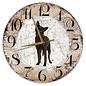 Creatief Art Houten Klok - 30cm - Hond - Austrailian Celpie