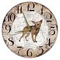 Creatief Art Houten Klok - 30cm - Hond - Dwergpinscher