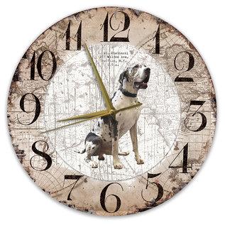 Creatief Art Houten Klok - 30cm - Hond - Duitse Dog