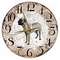 Creatief Art Houten Klok - 30cm - Hond - Bullmastiff