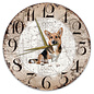 Creatief Art Houten Klok - 30cm - Hond - Welsh Corgi Cardigan