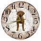 Creatief Art Houten Klok - 30cm - Hond - Bordeaux Dog