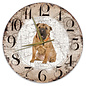 Creatief Art Houten Klok - 30cm - Hond - Shar Pei