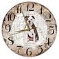 Creatief Art Houten Klok - 30cm - Hond - Amerikaanse Buldog