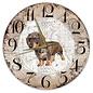 Creatief Art Houten Klok - 30cm - Hond - Ruwharige tekkel