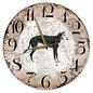 Creatief Art Houten Klok - 30cm - Hond - Windhond zwart