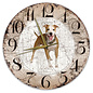 Creatief Art Houten Klok - 30cm - Hond - Amerikaanse Staffordshireterriër