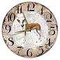 Creatief Art Houten Klok - 30cm - Hond - podenco