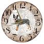 Creatief Art Houten Klok - 30cm - Hond - Australian Cat Dog