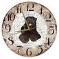 Creatief Art Houten Klok - 30cm - Hond - Bouvier