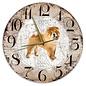 Creatief Art Houten Klok - 30cm - Hond - Chow Chow