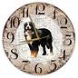 Creatief Art Houten Klok - 30cm - Hond - Berner Sennen