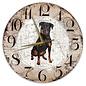 Creatief Art Houten Klok - 30cm - Hond - Rottweiler