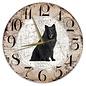 Creatief Art Houten Klok - 30cm - Hond - Groenendaeler