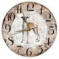 Creatief Art Houten Klok - 30cm - Hond - Greyhound