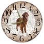 Creatief Art Houten Klok - 30cm - Hond - Irish Setter