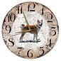 Creatief Art Houten Klok - 30cm - Hond - Shiba Inu