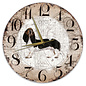 Creatief Art Houten Klok - 30cm - Hond - Teckel