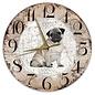Creatief Art Houten Klok - 30cm - Hond - Mopshond