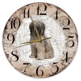Creatief Art Houten Klok - 30cm - Hond - Bobtail