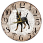 Creatief Art Houten Klok - 30cm - Hond - Doberman Pinscher