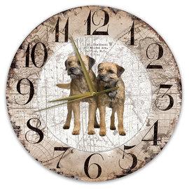 Creatief Art Horloge en bois - Chihuahua Black