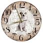 Creatief Art Houten Klok - 30cm - Hond - Jack Russel Ruwharig