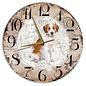 Creatief Art Houten Klok - 30cm - Hond - Kooiker