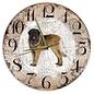 Creatief Art Houten Klok - 30cm - Hond - Leonberger
