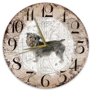 Creatief Art Houten Klok - 30cm - Hond - Imaal Terrier