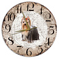 Creatief Art Houten Klok - 30cm - Hond - York