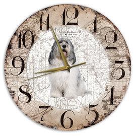 Creatief Art Houten Klok - 30cm - Hond - Bobtail Terrier
