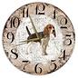 Creatief Art Houten Klok - 30cm - Hond - Beagle
