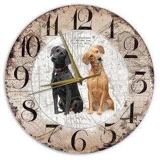 Creatief Art Houten Klok - 30cm - Hond - Labrador